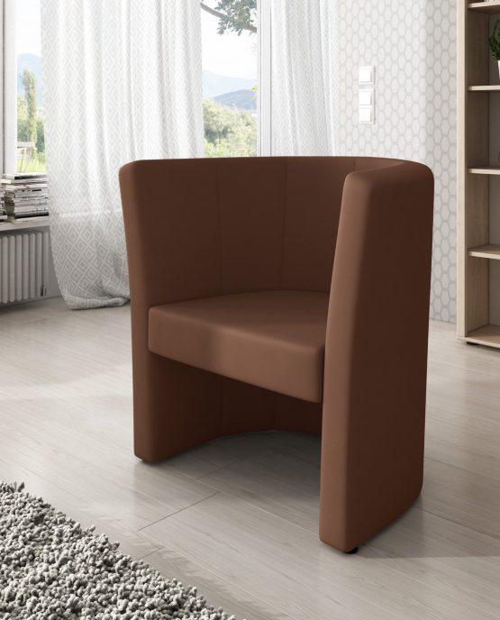 Fotel brązowy