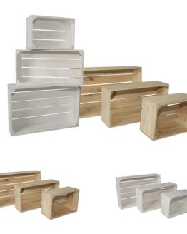 komplet skrzyń drewnianych