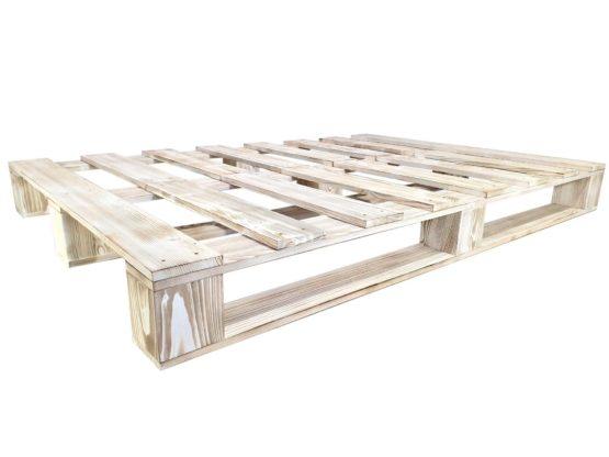 Łóżko rustykalne białe bez zagłówka