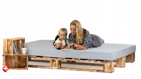 łóżko z palet rustykalne